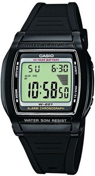 Чоловічий наручний годинник Casio W-201-1AVEF - зображення 1