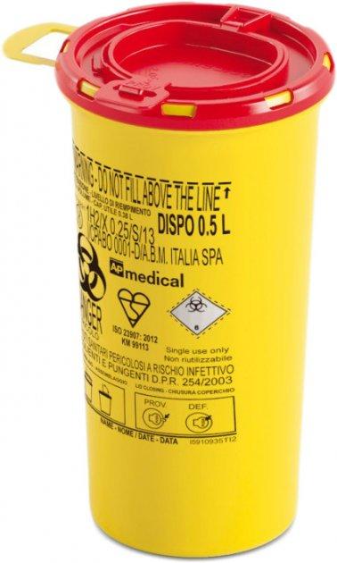 Контейнер для збору голок і медичних відходів AP Medical DISPO 0.5 л (2060900 4483 05) - зображення 1