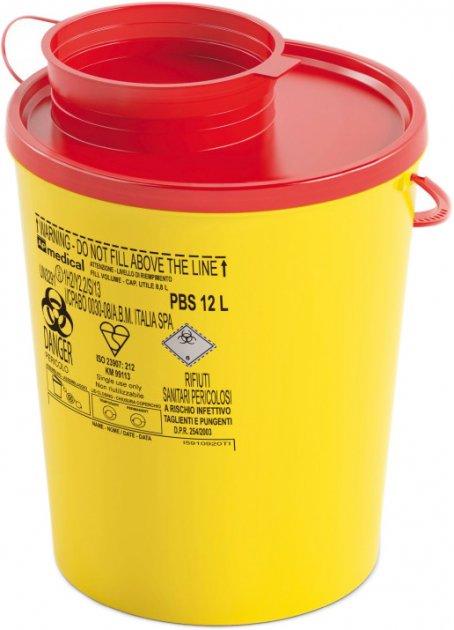 Контейнер для сбора игл и медицинских отходов AP Medical PBS 12 л (2041300 4313 07) - изображение 1