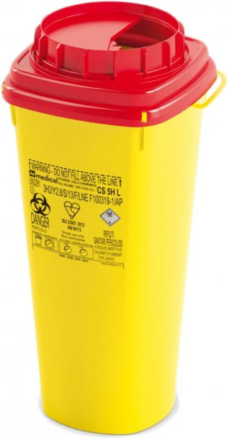 Контейнер для сбора игл и медицинских отходов AP Medical CSH 5 л (2030600 4190 03) - изображение 1