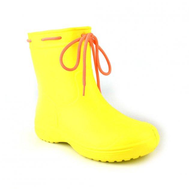 Сапоги женские резиновые EVA Jose Amorales с шнуровкой 39 р Желтый (joa_119210_4) - изображение 1