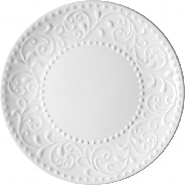 Тарелка десертная Ardesto Olbia White Белый 19 см (AR2919WC) - изображение 1