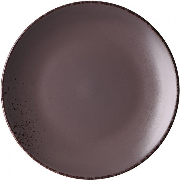 Тарелка обеденная Ardesto Lucca Grey brown Коричневый 26 см (AR2926GMC) - изображение 1