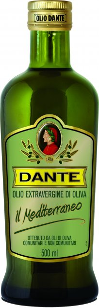 Оливковое масло Olio Dante Il Mediterraneo первого холодного отжима класса Extra Virgin 0.5 л (8033576195032)