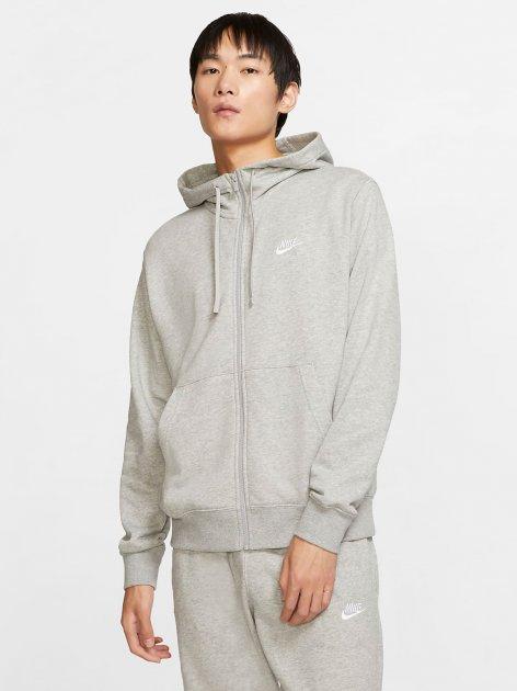 Толстовка Nike M Nsw Club Hoodie Fz Ft BV2648-063 S Светло-серая (193147704006) - изображение 1