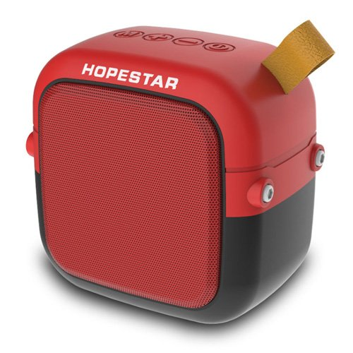 Bluetooth-колонка HOPESTAR-T5 MINI, StrongPower, c функцією speakerphone, радіо, red - зображення 1