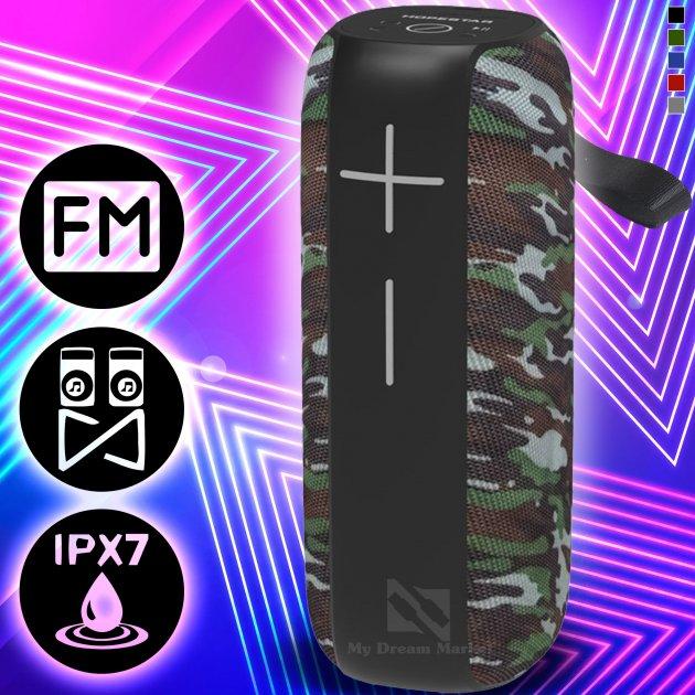 Акустична колонка Hopestar P15 Pro переносна з вбудованим мікрофоном з Bluetooth - Портативна USB вологозахищена система – потужний гучномовець + карта пам'яті micro SD + TWS + FM-радіо, Camu - зображення 1