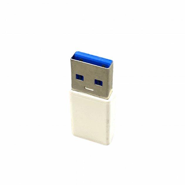 Перехідник для зарядки і передачі даних Type-C на USB білий - зображення 1