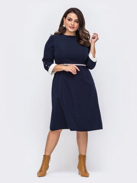 Платье Dressa 51507 52-54 Темно-синее (2000405663495_D) - изображение 1
