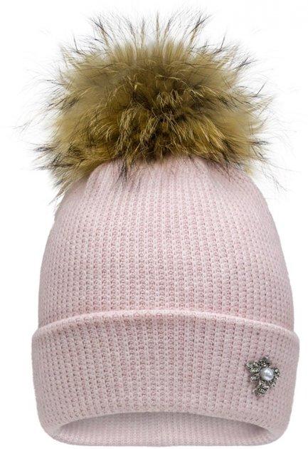 Зимова шапка David's Star 21400 54 Пудра (ROZ6400024623) - зображення 1