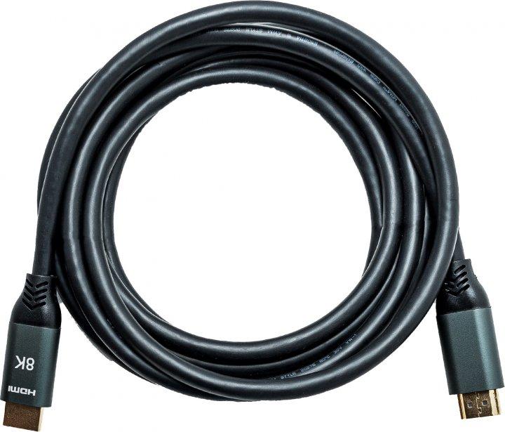 Кабель XoKo HC-100 HDMI — HDMI 8K 2.1 3 м Чорний (HC-100-3) - зображення 1