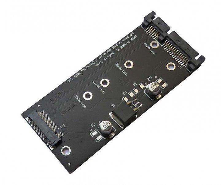 """Адаптер NGFF B+M key M. 2 to SSD 2.5"""" SATA 3 (NFHK) - зображення 1"""
