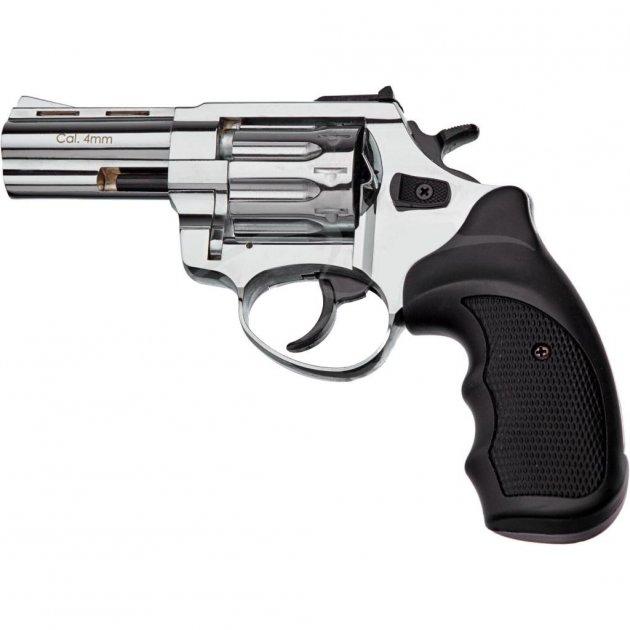 """Револьвер під патрон Флобера STALKER 3"""" 4 мм Black Nickel (ST3SN) - зображення 1"""