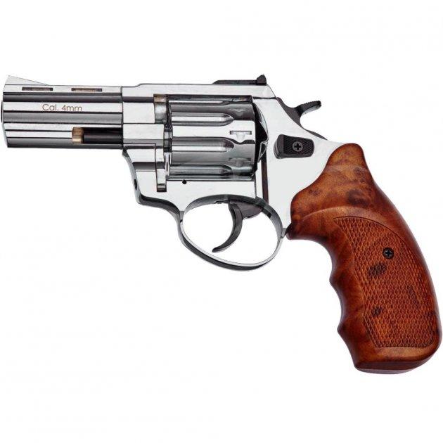 "Револьвер під патрон Флобера STALKER 3"" 4 мм Nickel Brown (ST3WN) - зображення 1"
