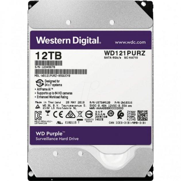 """Жорсткий диск 3.5"""" 12TB Western Digital (WD121PURZ) - зображення 1"""