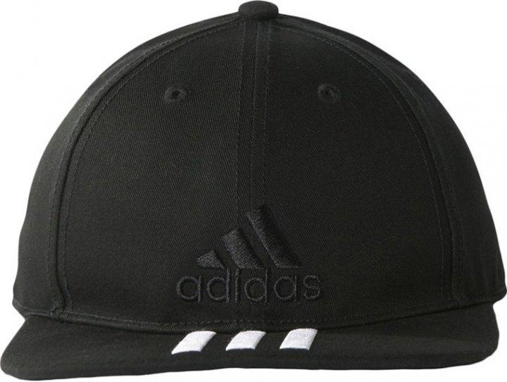 Кепка Adidas 6P 3S Cap Cotto S98156 58-60 Black/Black/White (4057288006336) - изображение 1