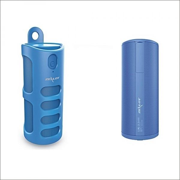 Бездротова Bluetooth колонка Zealot S8 Original з функцією Power Bank + зручний чохол кріплення з карабіном для носіння з собою і для велосипеда Синя - зображення 1