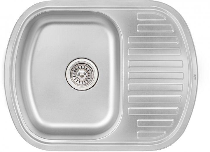 Кухонна мийка QTAP 6349 Micro Decor 0.8 мм (QT6349MICDEC08) - зображення 1