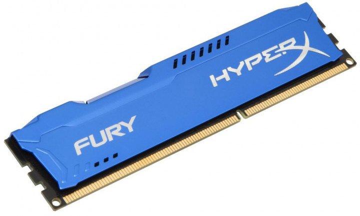 Оперативна пам'ять HyperX DDR3-1600 8192MB PC3-12800 FURY Blue (HX316C10F/8) - зображення 1