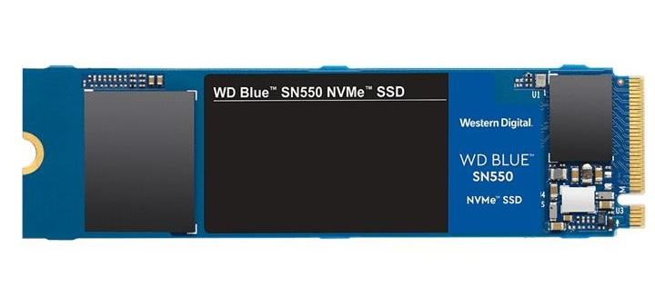 Твердотільний накопичувач SSD Wd SN550 500GB M.2 NVMe PCIe 3.0 4x 2280 TLC Blue (WdS500G2B0C) - изображение 1