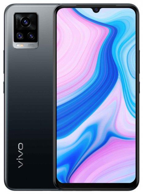 Мобильный телефон Vivo V20 8/128GB Midnight Jazz (6935117827339) - изображение 1