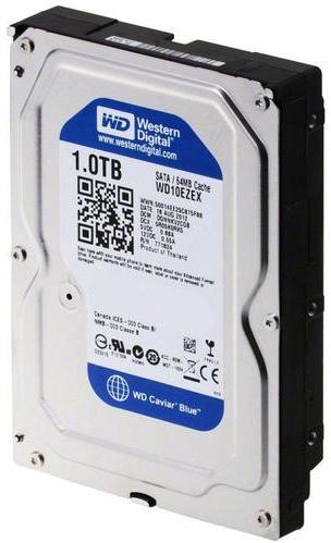"Жесткий диск Western Digital Blue 1ТБ 7200об/м 64МБ 3.5"" SATA III (WD10EZEX) - изображение 1"