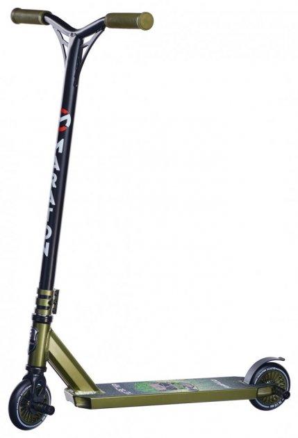 Трюковий Самокат Maraton RAPID трюкової колеса метал хакі металік для фрістайлу - зображення 1