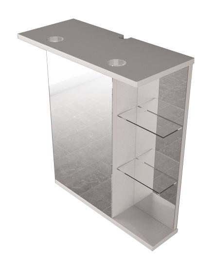 Зеркальный шкаф FANCY MARBLE ШЗ-8 (белый) - изображение 1