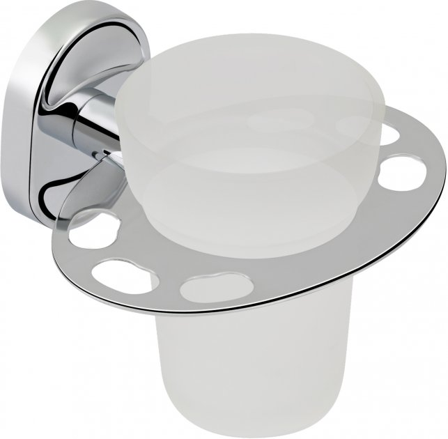 Стакан для ванной LIDZ (CRG)-114.04.03 с держателем зубных щеток - изображение 1