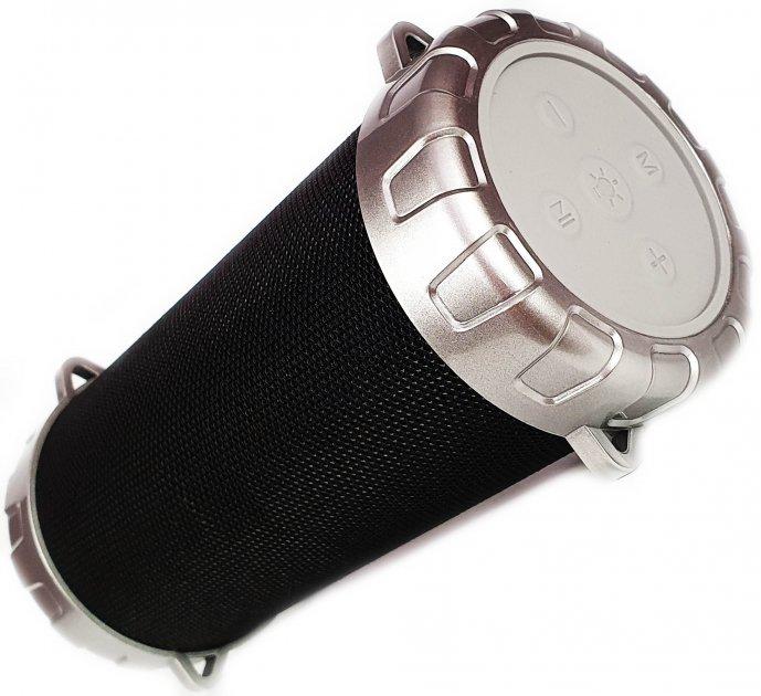 Портативная беспроводная Bluetooth стерео колонка Bazuka SPS S07 с цветомузыкой Черная (S07 Black) USB, MicroSD - изображение 1