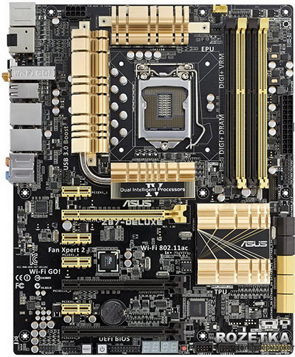 Материнская плата Asus Z87-Deluxe (s1150, Intel Z87, 2 x PCI-Ex16) - изображение 1
