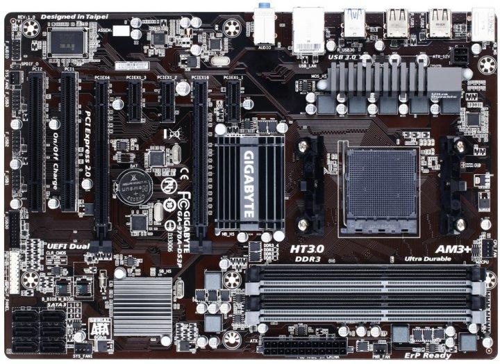 Материнская плата Gigabyte GA-970A-DS3P (sAM3+, AMD 970 / AMD SB950, PCI-Ex16) - изображение 1