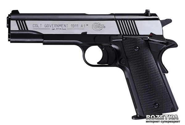 Пневматичний пістолет Umarex Colt Government 1911 A1 Dark Ops (417.00.20) - зображення 1