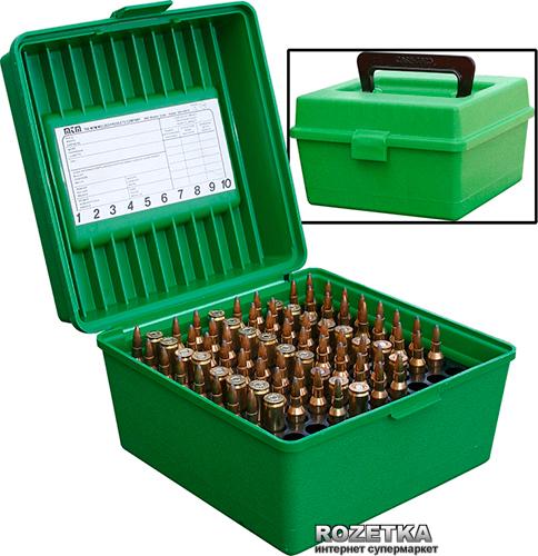 Коробка МТМ R-100 для патронов 308 Win 100 шт. Зеленый (17730467) - изображение 1