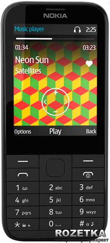 Мобільний телефон Nokia 225 Black Dual Sim - зображення 1