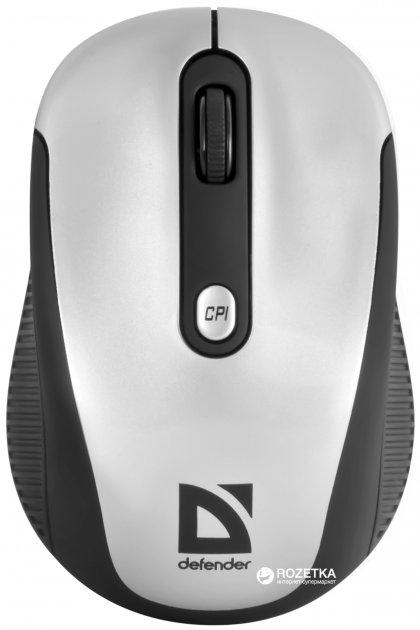 Мышь Defender Optimum MS-125 Wireless Black/Silver (52125) - изображение 1