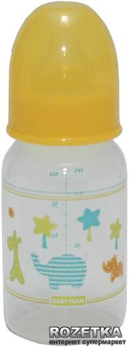 Бутылочка стандартная Baby Team Слоник 125 мл (1101_желтый_слон) - изображение 1