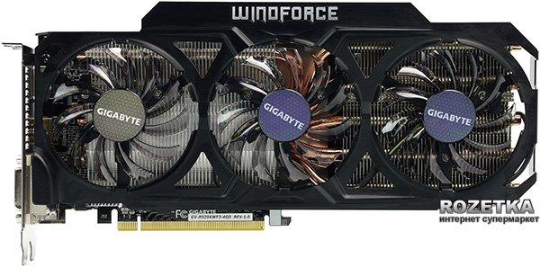 Gigabyte PCI-Ex Radeon R9 290X 4096MB GDDR5 (512bit) (1000/5000) (2 x DVI, HDMI, DisplayPort) (GV-R929XWF3-4GD) - зображення 1