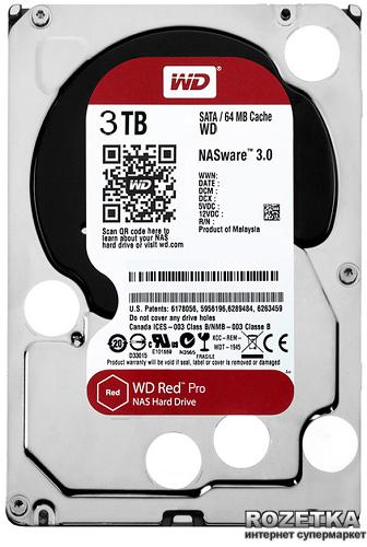 """Жесткий диск Western Digital Red Pro 3TB 7200rpm 64MB WD3001FFSX 3.5"""" SATA III - изображение 1"""