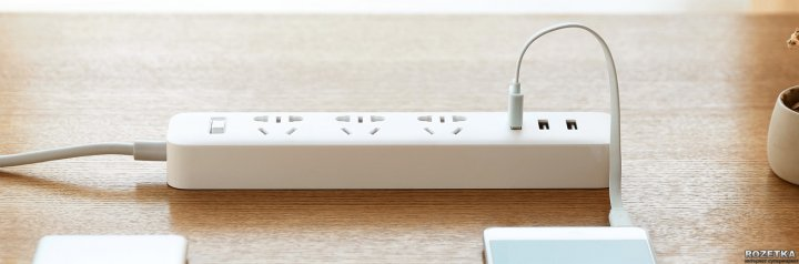 Удлинитель Xiaomi Mi Power Strip 3 USB XMCXB01QM White (NRB4027CN)