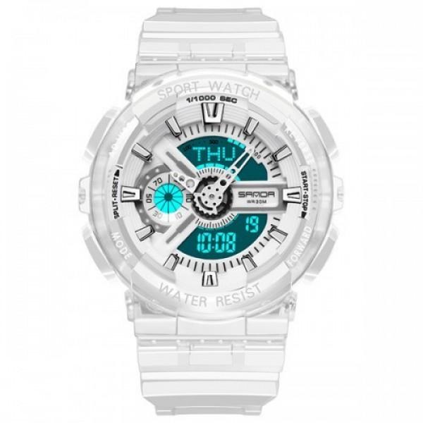 Наручные часы Sanda 298 White мужские комбинированные + подарочная коробка - изображение 1