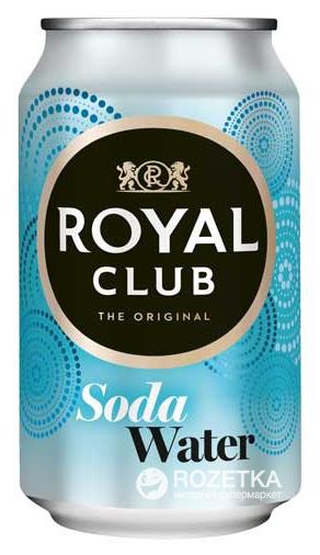 Упаковка безалкогольного газированного напитка Royal Club Содовая вода ж/б 0.33 л х 24 банки (8715600233551_8715600221572) - изображение 1