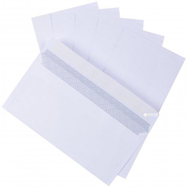 Конверты Kuvert Ukraine DL SKL 100 шт Белые (2041_100)