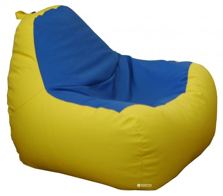 Крісло-Груша Примтекс Плюс Simba H-2240/H-2227 S Yellow-Blue (ordf) - зображення 1