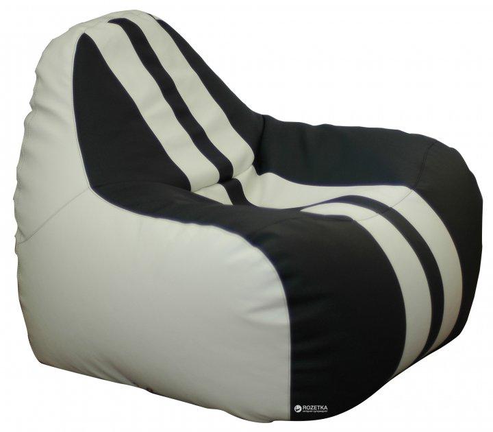 Крісло-Груша Примтекс Плюс Simba Sport H-2200/D-5 S White-Black - зображення 1