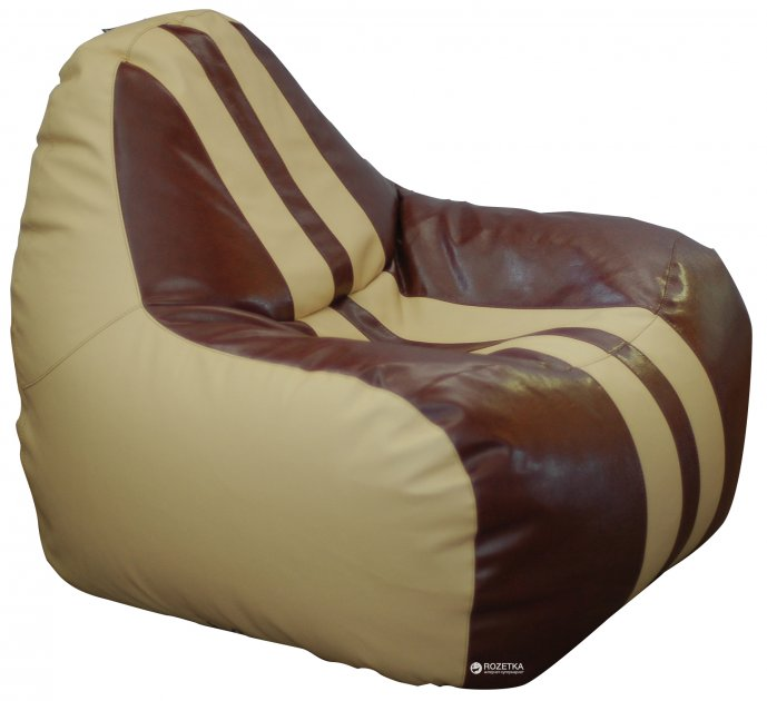 Крісло-Груша Примтекс Плюс Simba Sport H-2201/H-002 M Beige-Brown - зображення 1