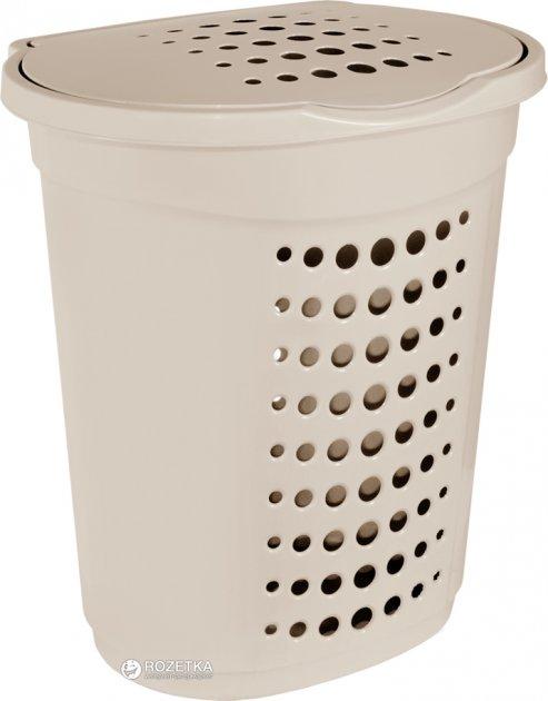 Корзина для белья Алеана 60 л Кремовая (122053-крем) - изображение 1
