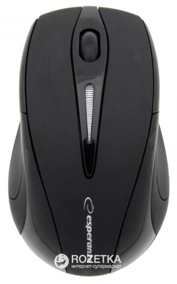 Миша Esperanza EM101K Wireless Black - зображення 1