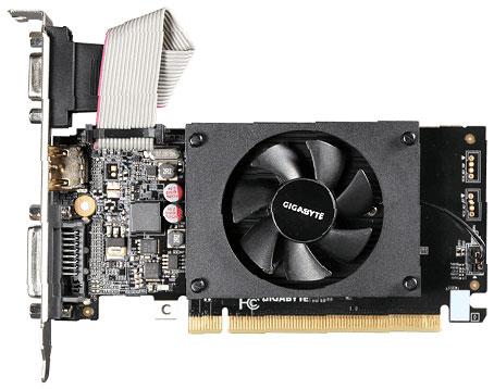 Gigabyte PCI-Ex GeForce GT 710 2048MB DDR3 (64bit) (954/1800) (HDMI, DVI, VGA) (GV-N710D3-2GL) - изображение 1