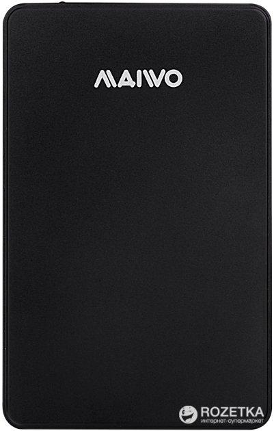 """Зовнішній кишеню Maiwo для HDD 2.5"""" SATA USB 3.0 Black (K2503D black) - зображення 1"""